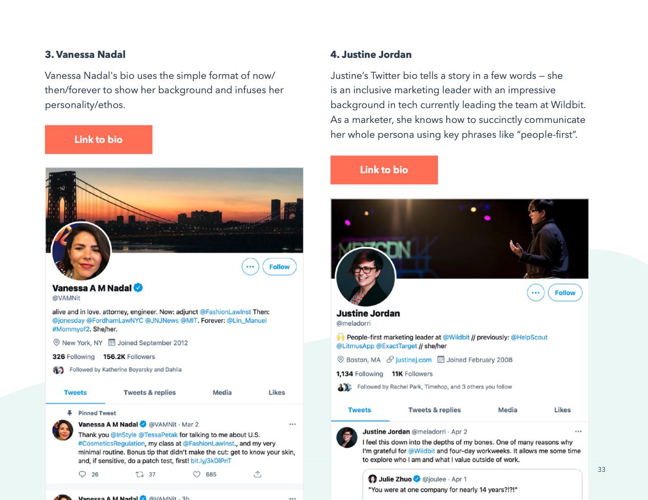 twitter bio examples