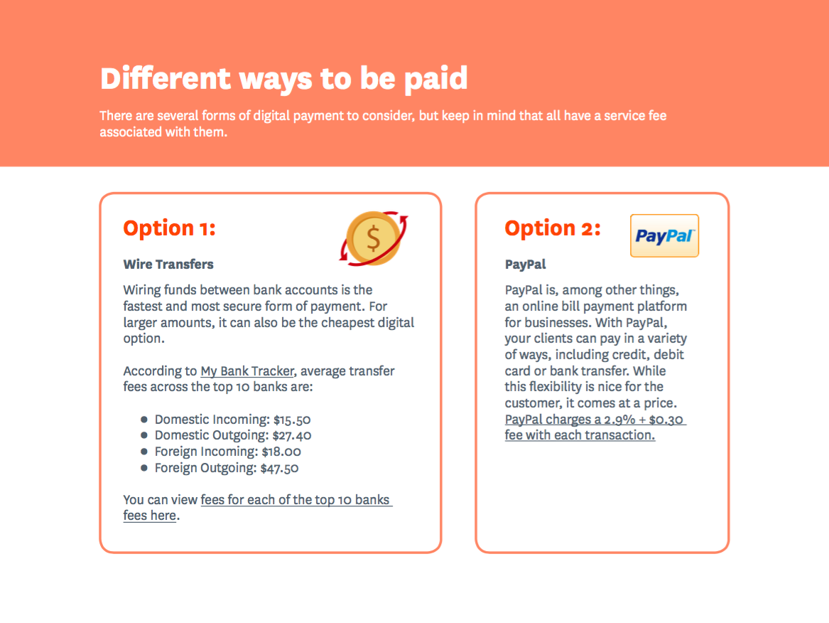 different_ways_to_be_paid