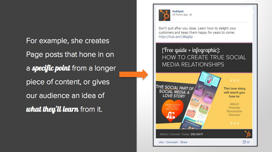 Attracting customers with Facebook