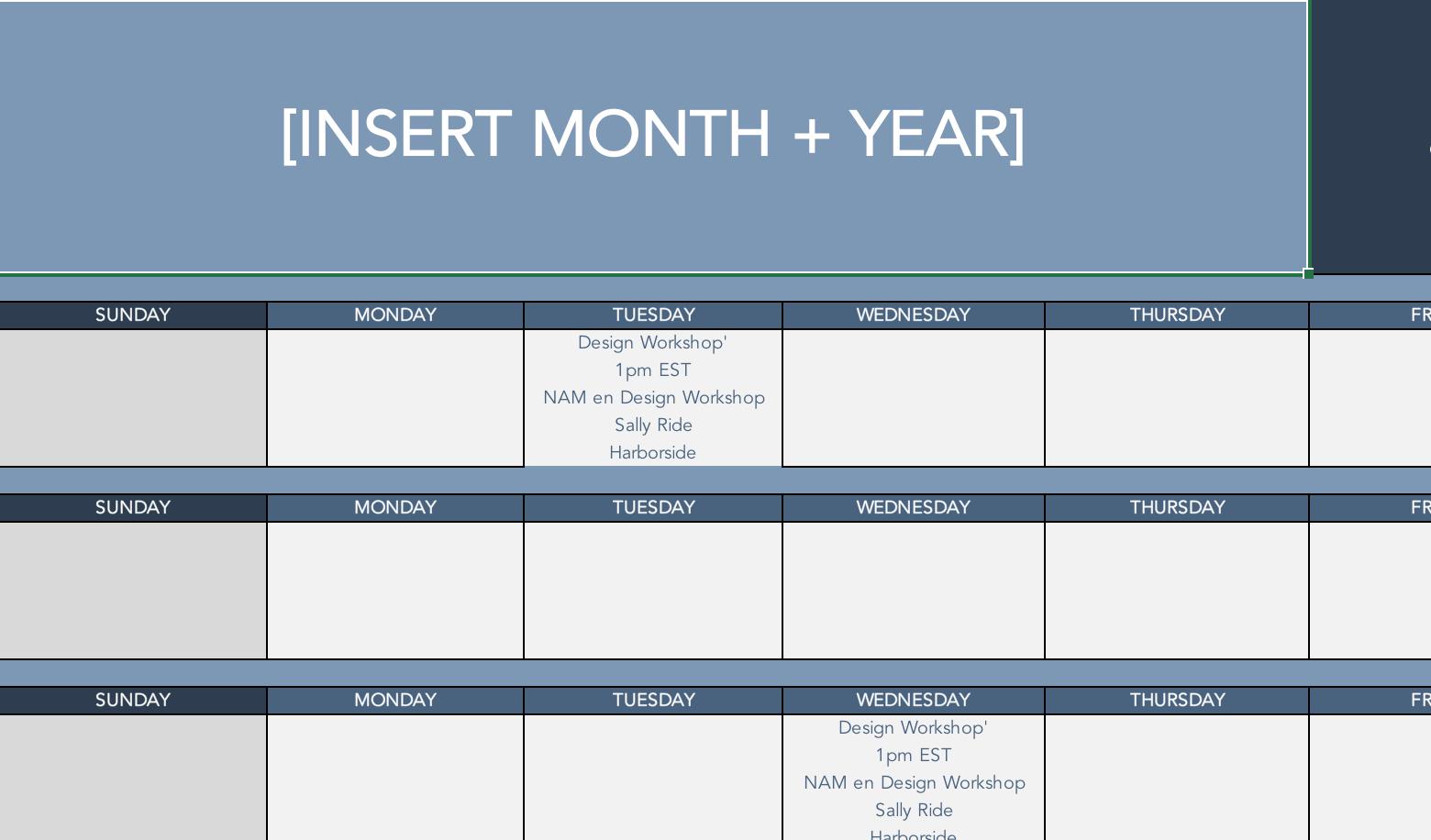Facebook Live Calendar