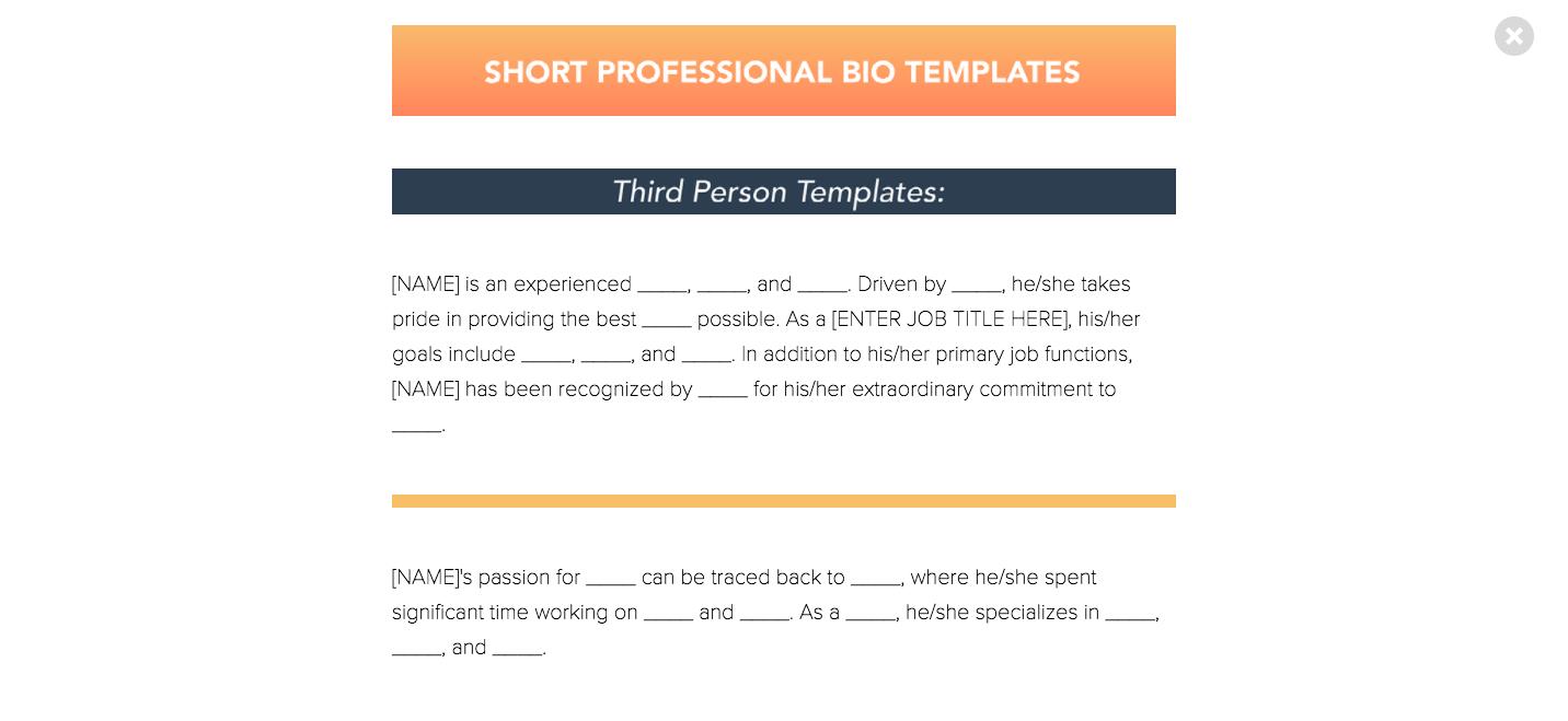 Professional Bio Examples 3