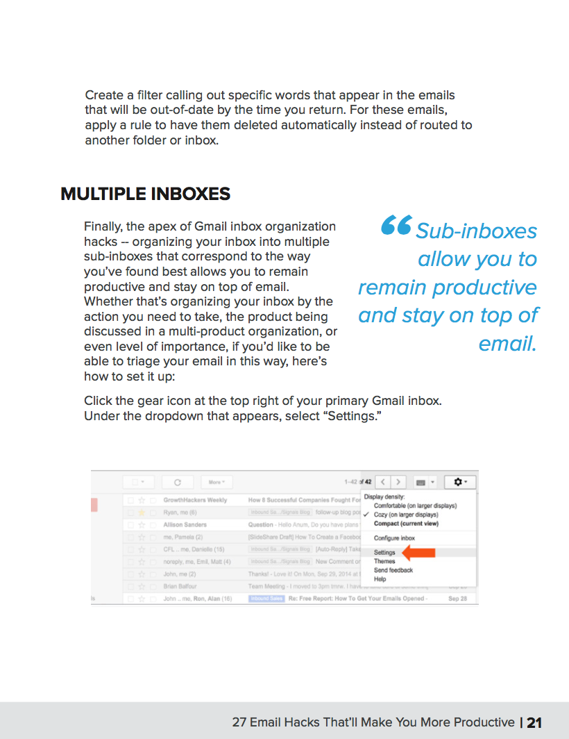 27 Email Hacks for Productivity