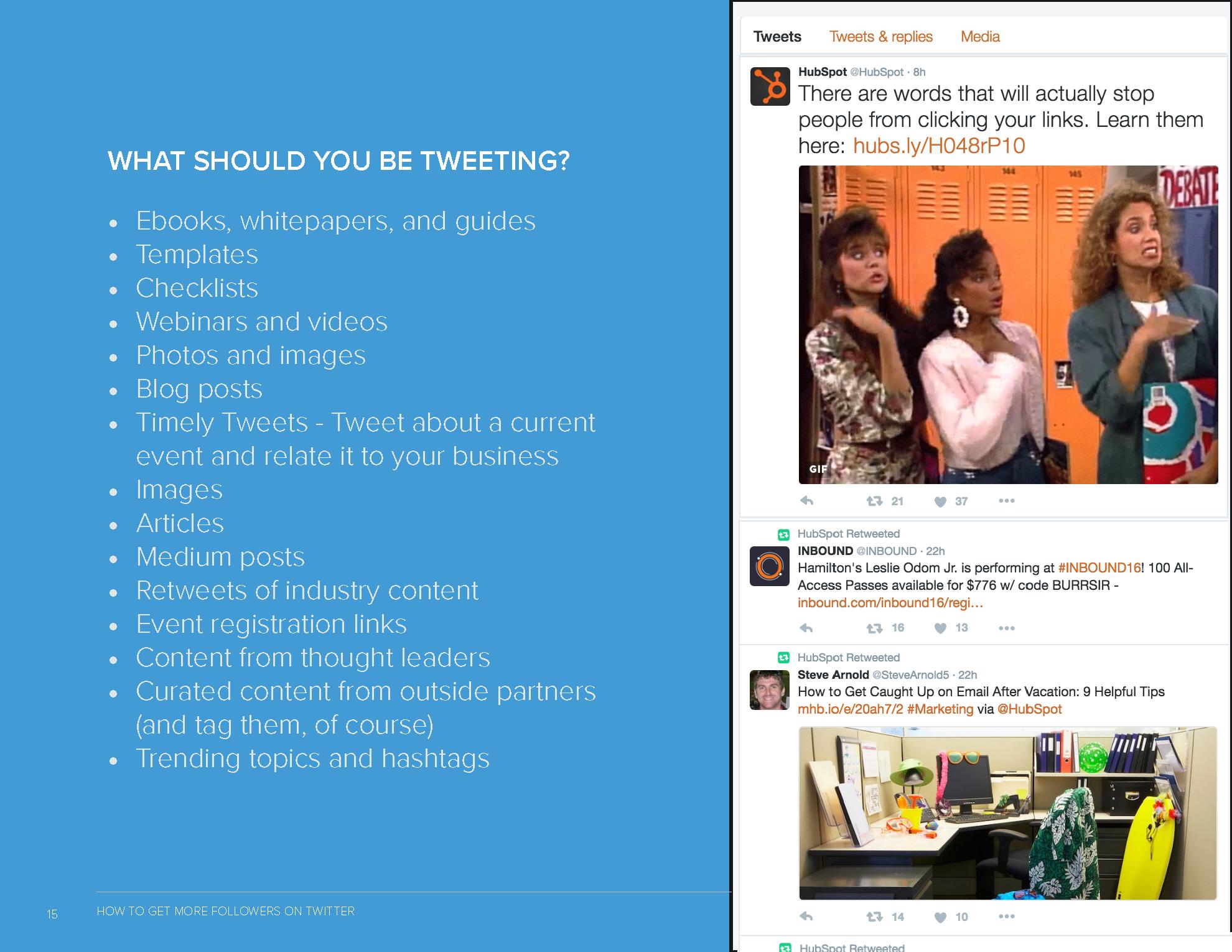 Tweet examples preview