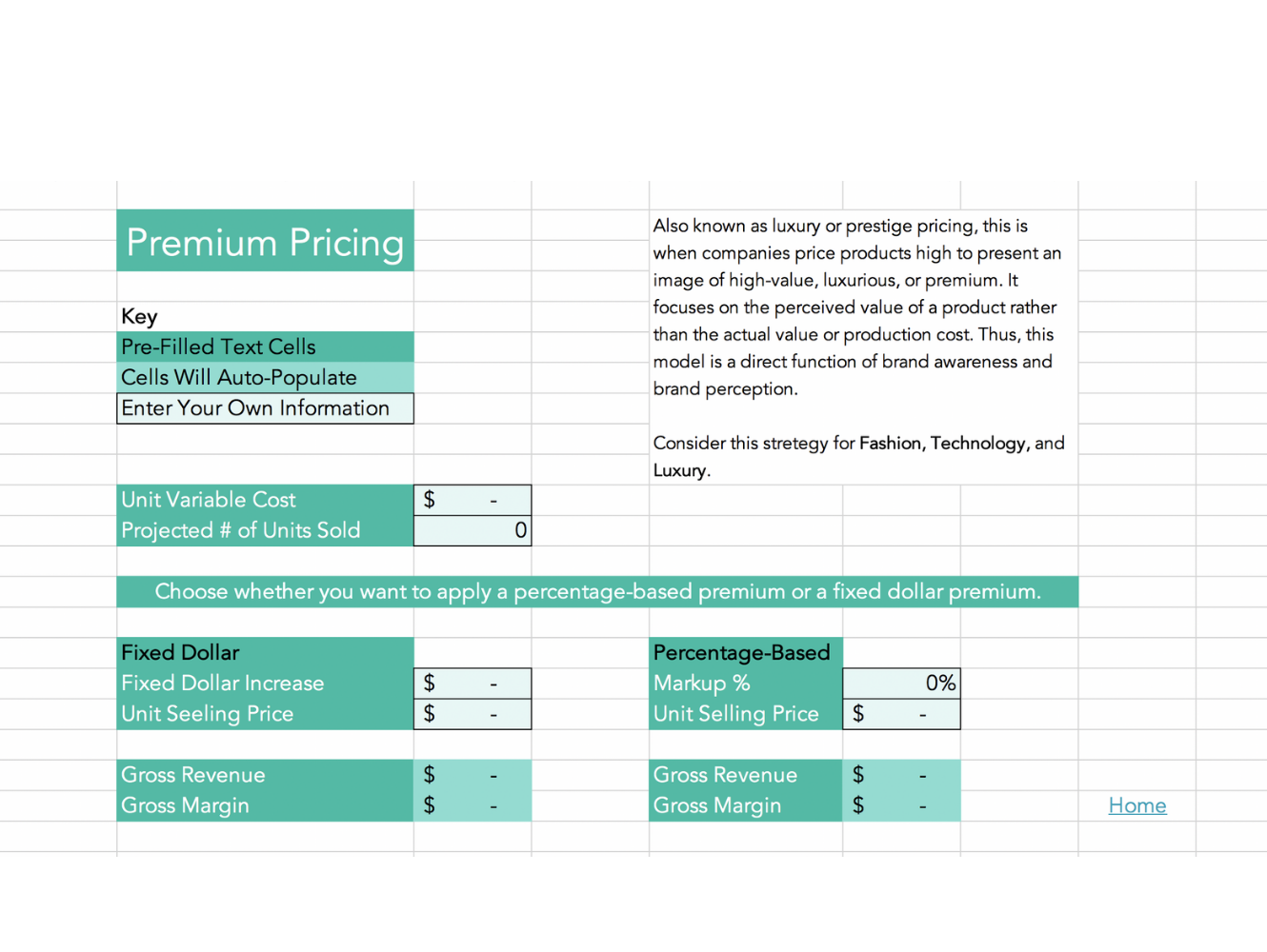 premium pricing calculator