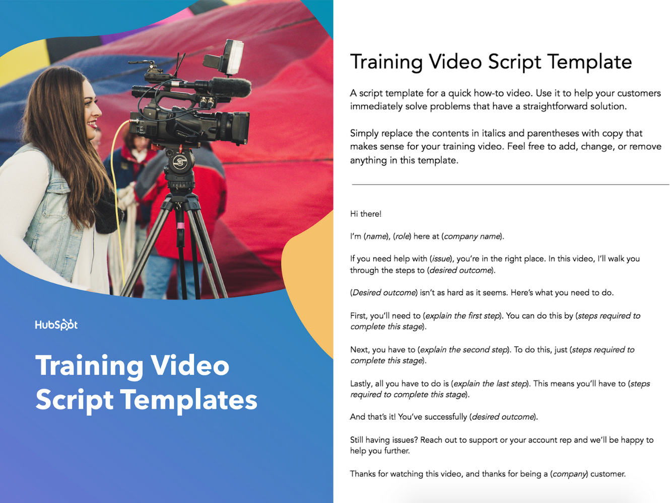 training video script template