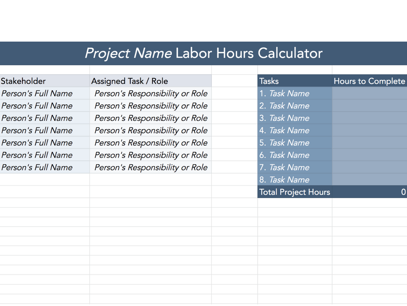 labor hours calculator