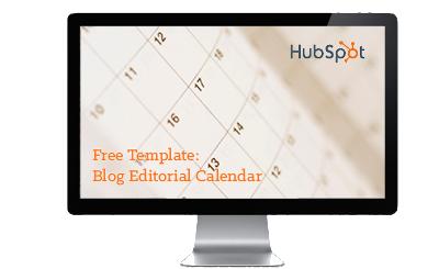 Editorial Calendar Templates - Hubspot content calendar template