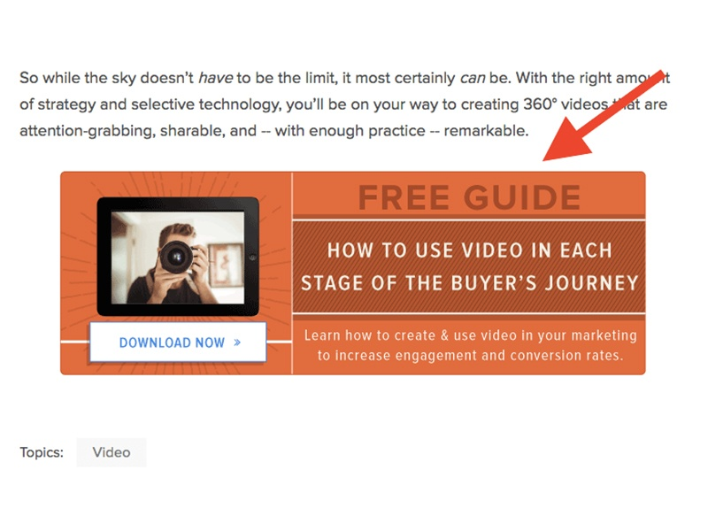 blog post call-to-action example
