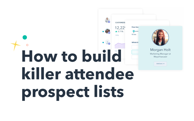 Building killer attendee prospect lists