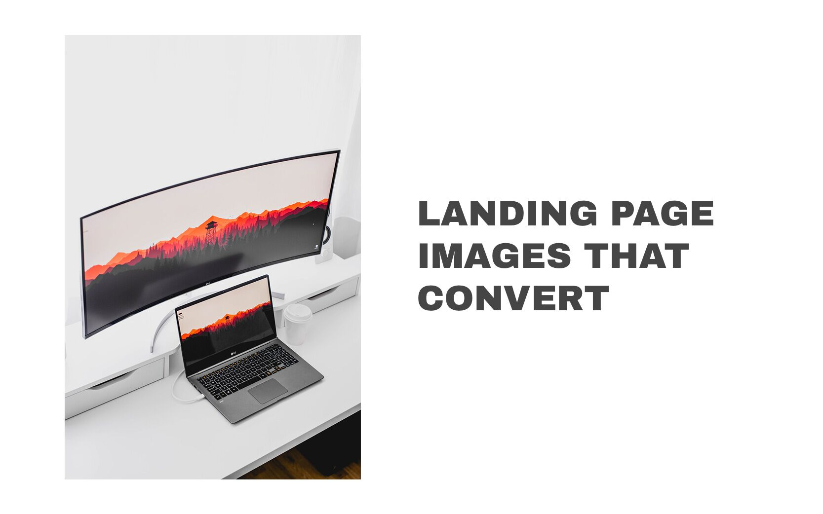 Landing page images that convert