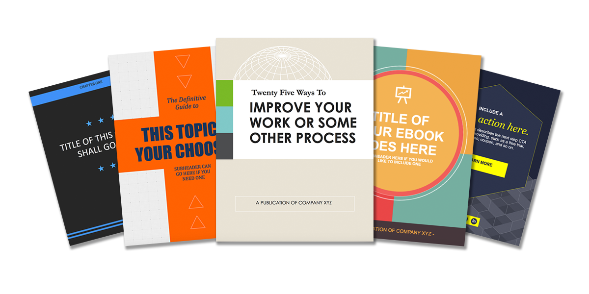 Free download 5 ebook templates for Free ebook templates