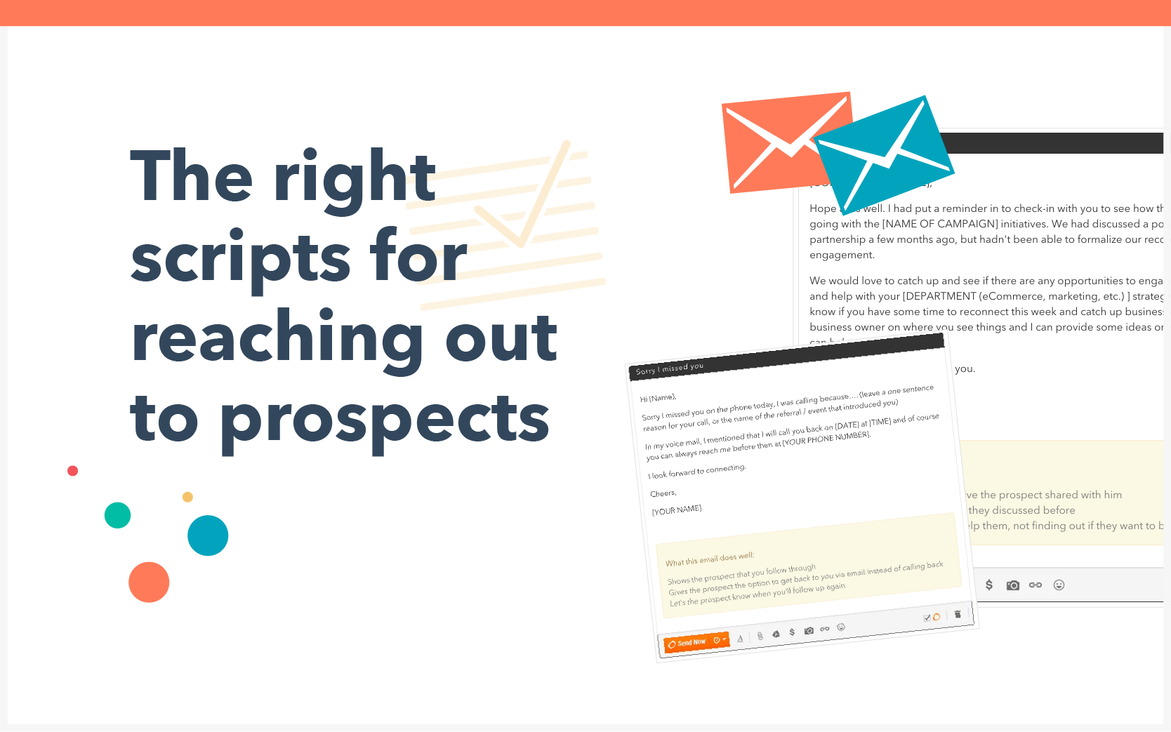 The right scripts for reaching out to prospects