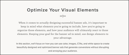 Optimize Your Visual Elements