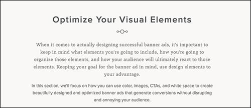 Optimize Your Visual Elements