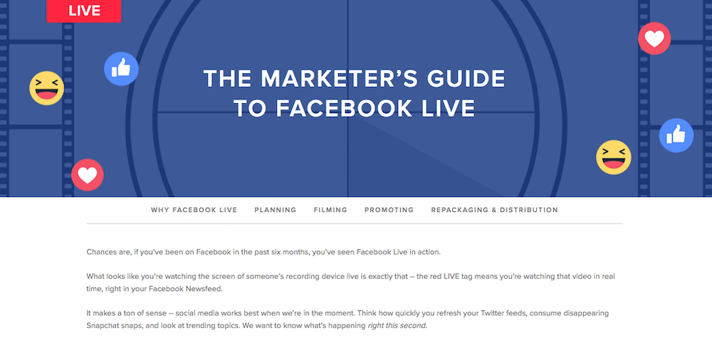The Guide to Facebook Live