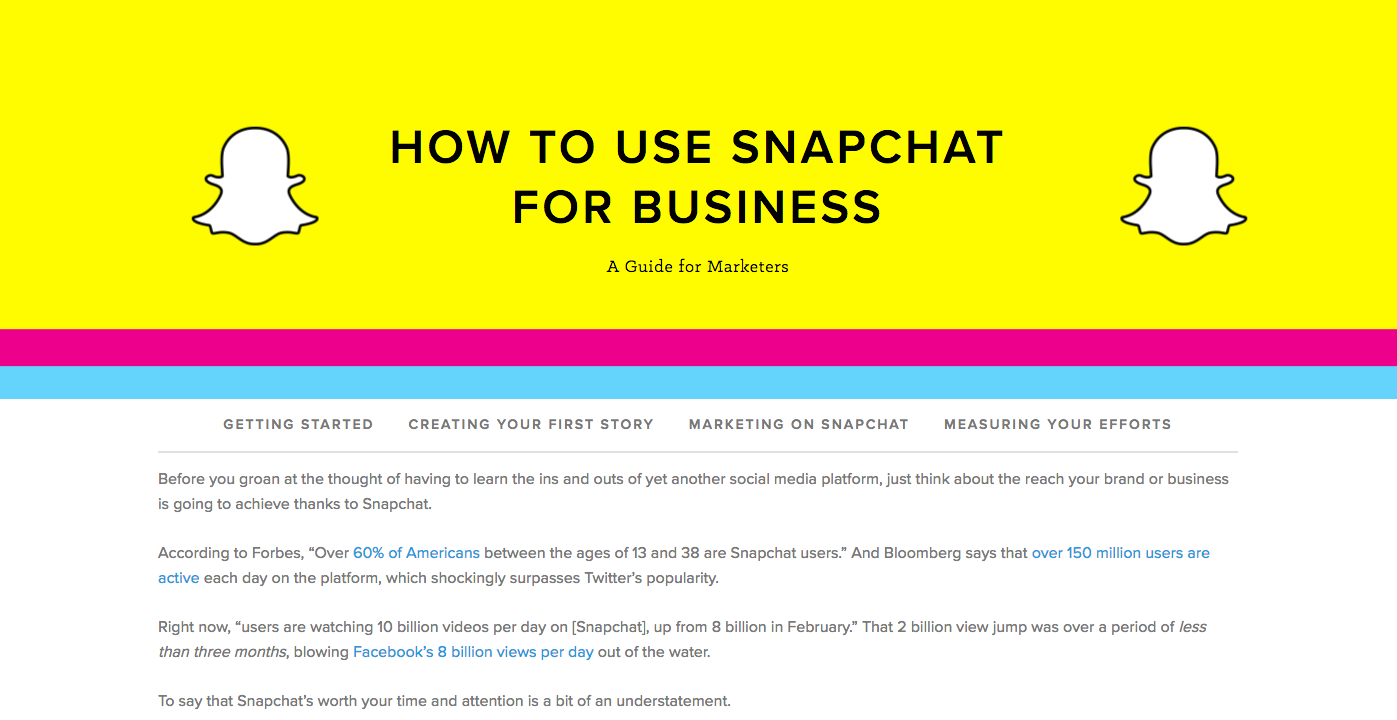How to use Snapchat for business