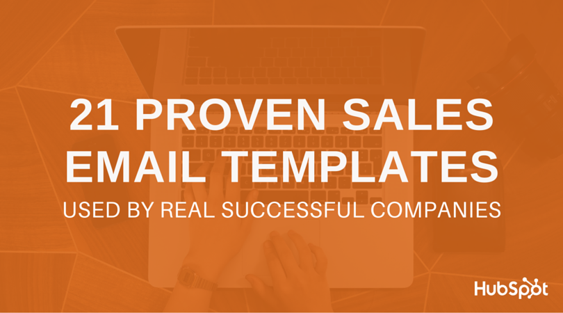 sales email template